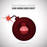 Bomba a orologeria di riscaldamento globale Fotografia Stock