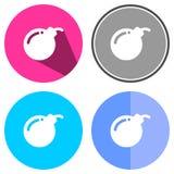Bomba piana delle icone Immagine Stock
