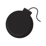 Bomba plana del icono Fotos de archivo