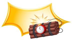 Bomba z zegarem Obraz Stock