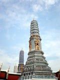 Bombarda (torre) al tempio del Buddha verde smeraldo, Tailandia Fotografie Stock