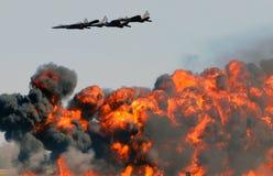 Bombardamento aereo Fotografia Stock Libera da Diritti