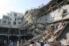 Bombardamento dell'hotel del Pakistan Immagine Stock