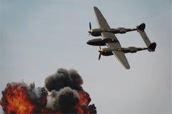 Bombardamento della seconda guerra mondiale Fotografia Stock