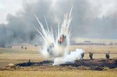 Bombardamento di guerra Immagini Stock Libere da Diritti