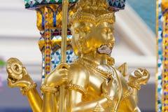 Bombardee el daño en Thao Maha Phrom, explosión de la bomba en Ratchaprasong el 17 de agosto de 2015 Bangkok, Tailandia imágenes de archivo libres de regalías