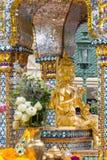 Bombardee el daño en Thao Maha Phrom, explosión de la bomba en Ratchaprasong el 17 de agosto de 2015 Bangkok, Tailandia imagen de archivo libre de regalías