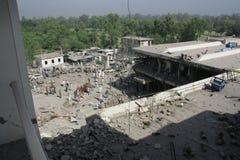 Bombardeio do hotel de Paquistão Imagens de Stock Royalty Free