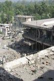 Bombardeio do hotel de Paquistão Fotografia de Stock