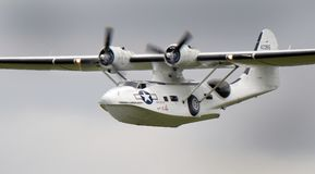 Bombardeiro anfíbio consolidado da patrulha do vintage do barco de voo de Catalina PBY Fotos de Stock Royalty Free