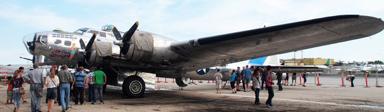 Bombardeiro B17 na exposição Fotos de Stock Royalty Free