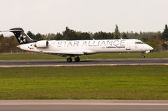 Bombardeiro CRJ-700 Foto de Stock