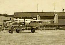 Bombardeiro da era da segunda guerra mundial foto de stock