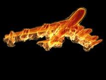 Bombardeiro da flama ilustração do vetor