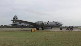 Bombardeiro de B-29 WW2 video estoque