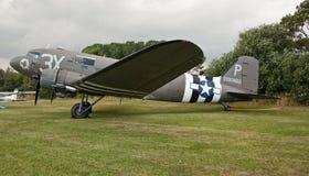Bombardeiro do C47 de Dakota no festival aéreo de lincolnshire Fotografia de Stock