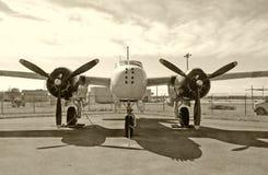 Bombardeiro do vintage imagens de stock royalty free