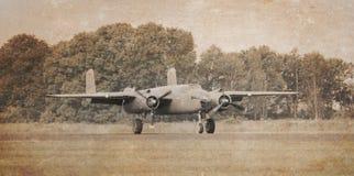 Bombardeiro não marcado, efeito do vintage imagens de stock
