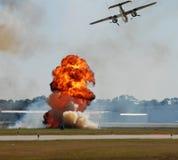 Bombardement aérien images libres de droits