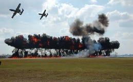 Bombardement aérien photos stock