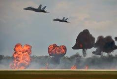 Bombardement aérien Photo libre de droits