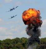 Bombardement de cible Images libres de droits