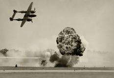 Bombardeo aéreo fotos de archivo libres de regalías