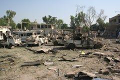 Bombardeo del hotel de Paquistán Foto de archivo libre de regalías