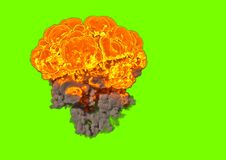 Bombardera explosionen - tolkningen 3D Arkivbilder