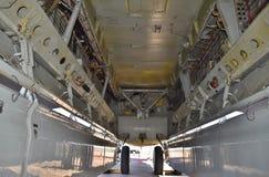 Bombardera fjärden av en bombplan för B-52 Stratofortress Fotografering för Bildbyråer