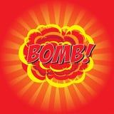 BOMBARDERA! komiskt ord Arkivbilder