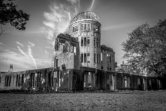 bombardera kupolen hiroshima arkivfoto
