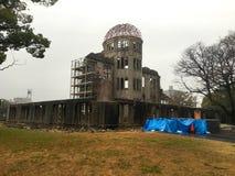 Bombardera kupolen i Hiroshima Japan arkivbilder