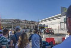 Bombardera larmet på den Rome flygplatsen Royaltyfri Bild