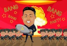 Bombardera på Nordkorea Royaltyfria Bilder