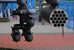bombarderar missilen Arkivfoto