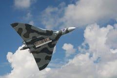 Bombardero de Avro Vulcan en su exhibición pasada en los Países Bajos Fotografía de archivo libre de regalías