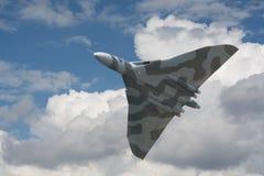 Bombardero de Avro Vulcan en su exhibición pasada en los Países Bajos Imagen de archivo libre de regalías