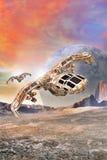 Bombardero de combatiente de la nave espacial Foto de archivo libre de regalías