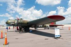 Bombardero del americano de la era de la Segunda Guerra Mundial de Boeing B-17 Foto de archivo libre de regalías