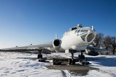 Bombardero estratégico soviético viejo Tu-16, museo de la aviación Fotos de archivo libres de regalías