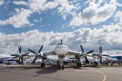 Bombardero estratégico Tu-95 Fotografía de archivo