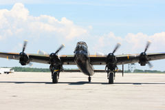 Bombardero legendario de los aviones de W.W.II. Imagen de archivo