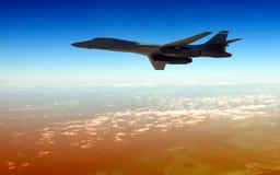 Bombardero pesado en una misión Fotos de archivo libres de regalías