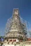 Bombardi la ricostruzione del tempio Fotografia Stock