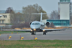 Bombardier Challenger 850 Business Jet Stock Image