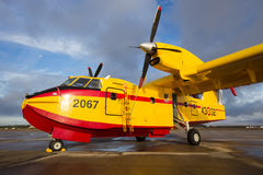 Bombardier CL-415 fire fighting plane royalty free stock images