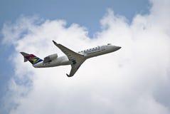 Bombardier CRJ 200ER - ZS-NML de SAA Photo libre de droits