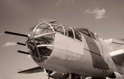 Bombardier d'ère de la deuxième guerre mondiale image stock
