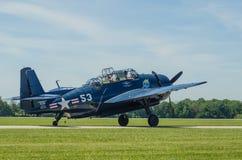 Bombardier d'avions de marine des USA de vengeur de TBM Photo libre de droits